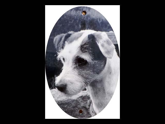 Grabschild-Hund