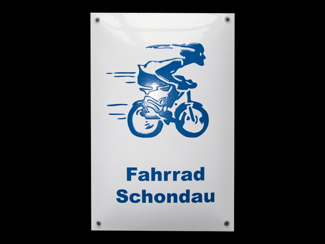Firmenschild-Fahrrad