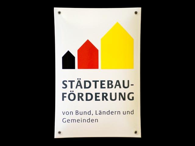 Firmenschild-Staedtebau