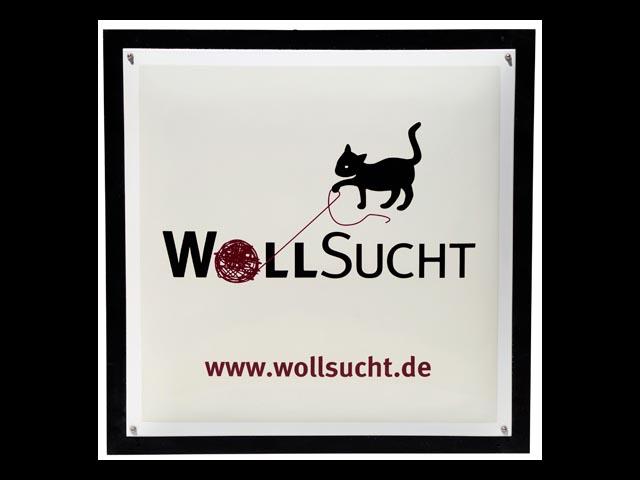 Firmenschild-Wollsucht