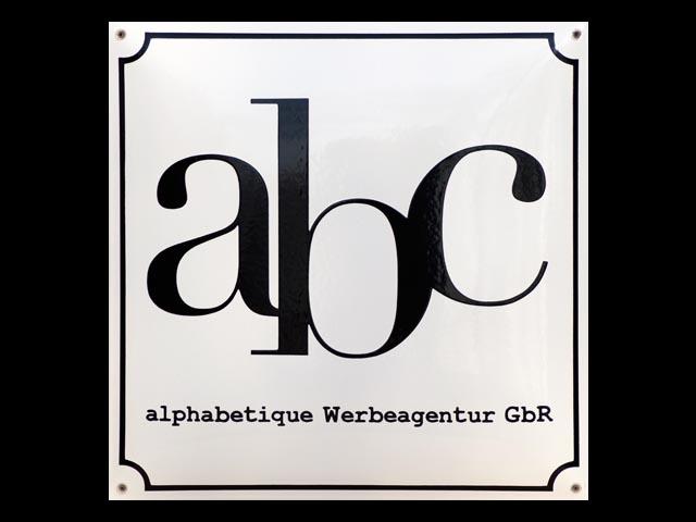 Firmenschild-abc