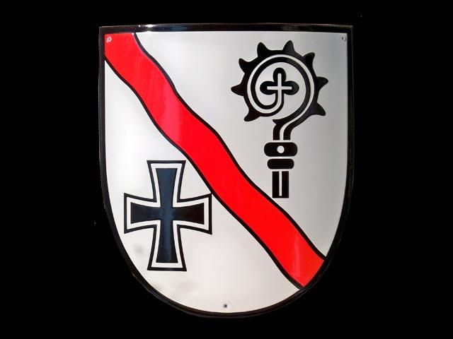 Wappen-Silber-Rot