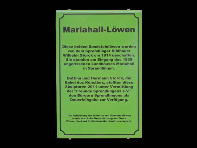 Textschild-Mariahall