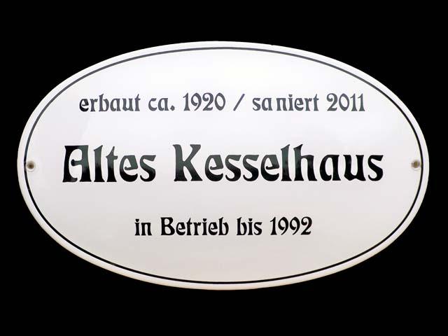 textschild-Kesselhaus