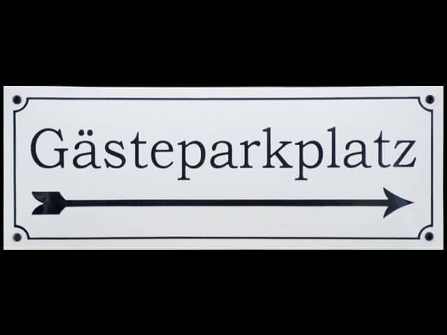 Hinweis auf Gästeparkplatz
