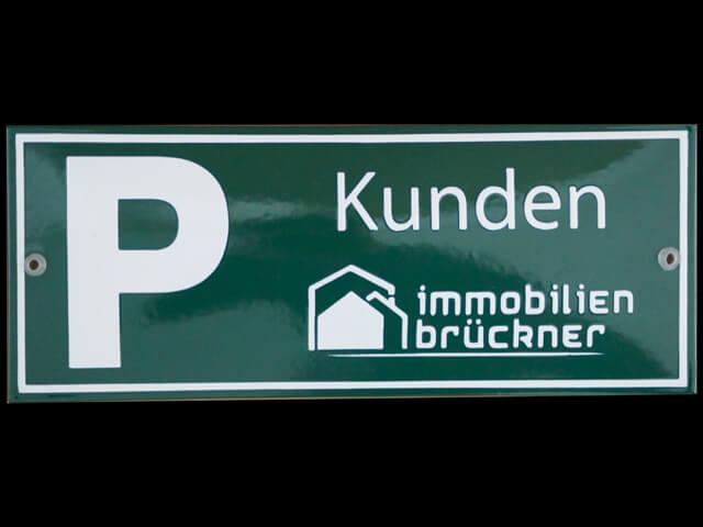 Firmenkundenparkplatzschild