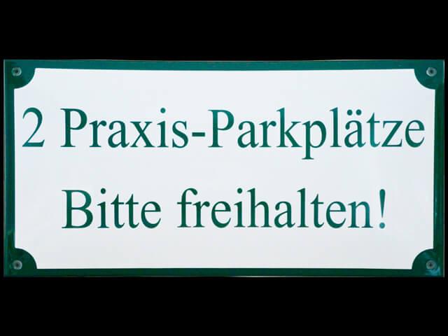 Parkplatz Praxis
