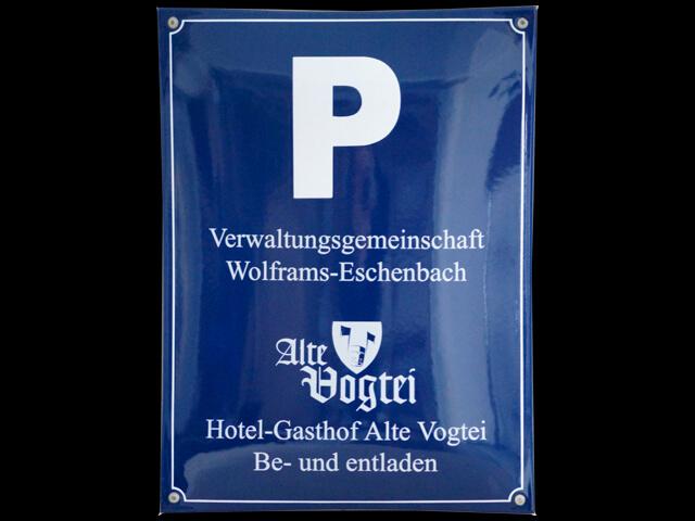 Parkplatzschild für Hotel Gasthof
