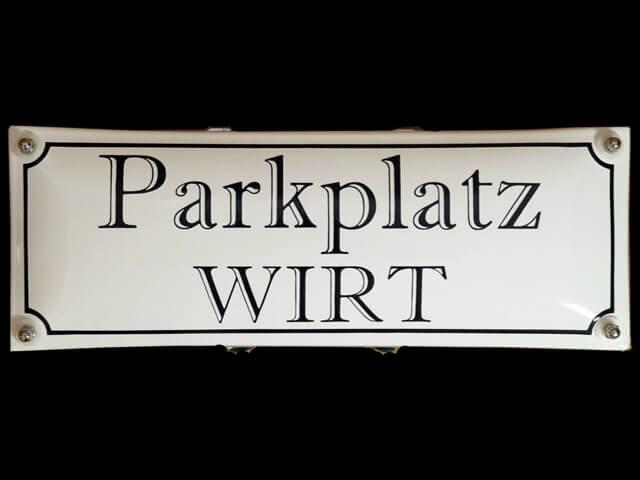 Parkplatzschild zur Mastbefestigung