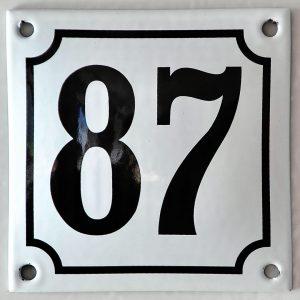 Emaillehausnummer-10x10 cm