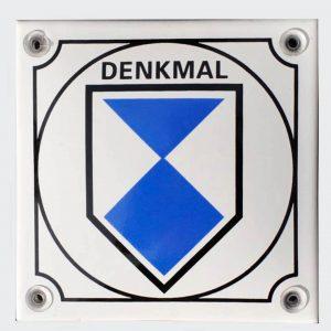Denkmal-Emailleschild-10x10cm-gewoelbt