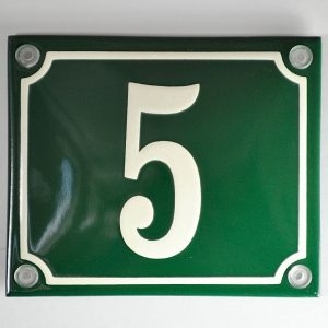 Emaille-Hausnummer-12x10cm-schabloniert