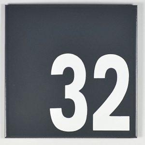Emaille-Hausnummer-Modern-16-x-16