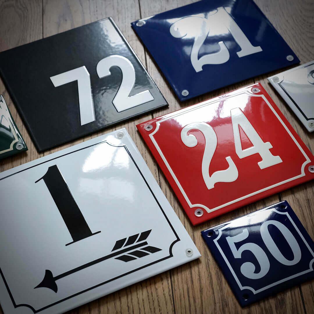 Emaille-Hausnummern