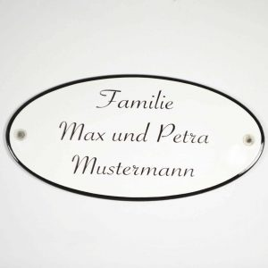 Emaille-Namensschild-20x10cm