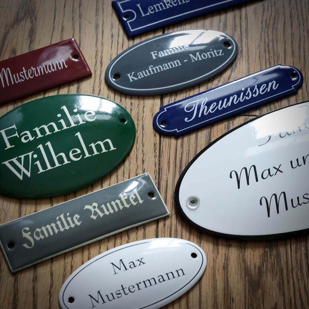 Emaille Namensschilder