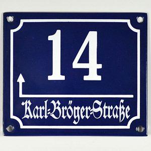 Emaille-Sueddeutsche-Hausnummer-14x12cm