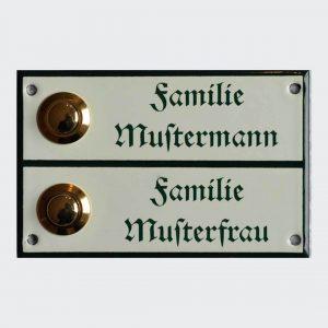 Klingelschild-Doppelnamen-14x7cm