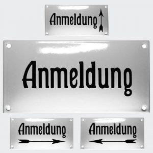 Nostalgie-Emailleschild-Anmeldung-20x10cm