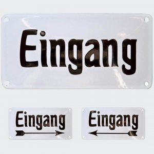 Nostalgie-Emailleschild-Eingang-20x10cm