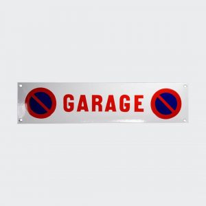 Emaille-Parkverbot-Garage-33x8cm