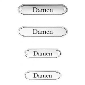 Emaille-Türschild-Damen