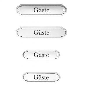 Emaille-Türschild-Gaeste