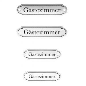 Emaille-Türschild-Gaestezimmer