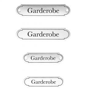 Emaille-Türschild-Garderobe