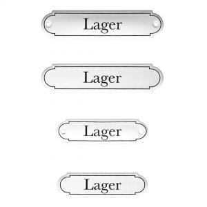 Emaille-Türschild-Lager