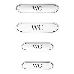 Emaille-Türschild-WC