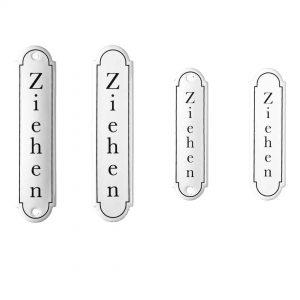 Emaille-Türschild-Ziehen