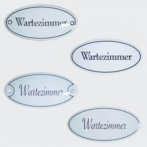 Emaille-Tuerschild-Wartezimmer-10x5cm