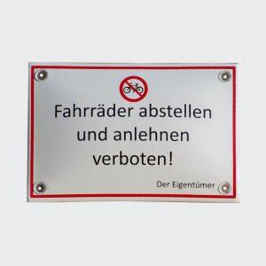 Emailleschild-Fahrraeder-abstellen-verboten-15x10cm