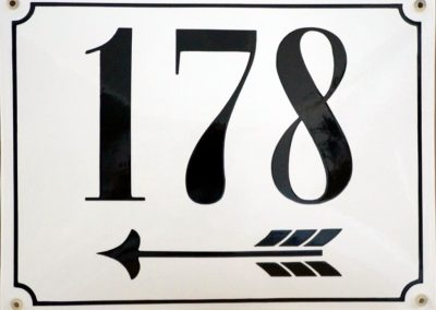 Hausnummer Berlin lang