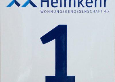 Hausnummer Quadrat mit Logo