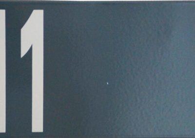 Hausnummer modern