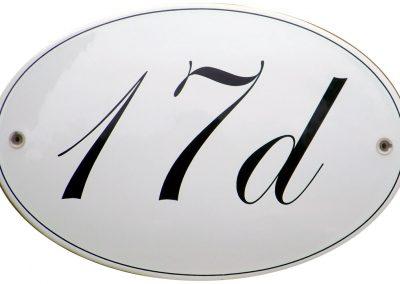 Hausnummer oval