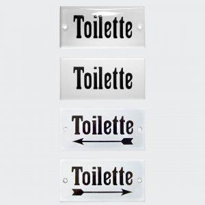 Hinweisschild-Toilette-Email-10x5cm