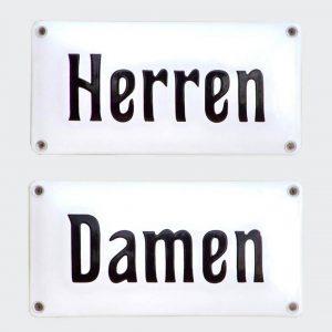 Toilettenschild-Herren-Damen-Emaille-20x10cm