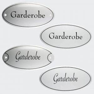 Tuerschild-Emaille-Garderobe-oval-10x5cm