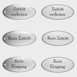 Tuerschild-Emaille-Kein-Zutritt-Eingang-oval-10x5cm