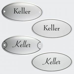 Tuerschild-Emaille-Keller-oval-10x5cm