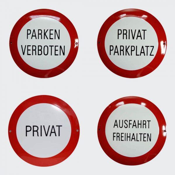 Verbot-Privat-Parken-Ausfahrt-rund-30cm