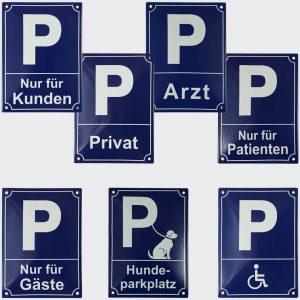 Emaille-Parkplatzschilder-16x22cm