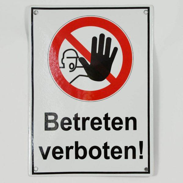 Emailleschild-Betreten-verboten