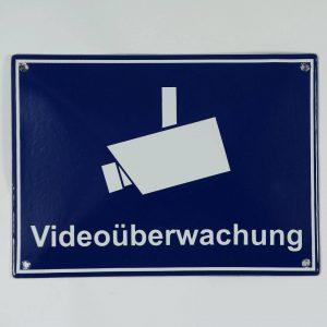 Emailleschild-Videoueberwachung