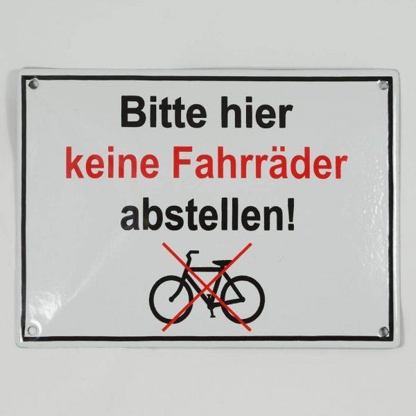 Emailleschild-keine-Fahrraeder