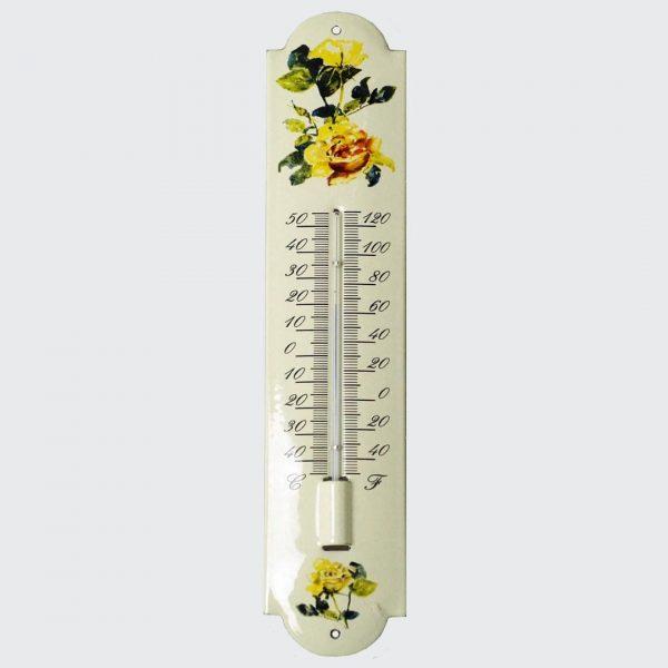 Thermometer mit Blumenmotiv-7