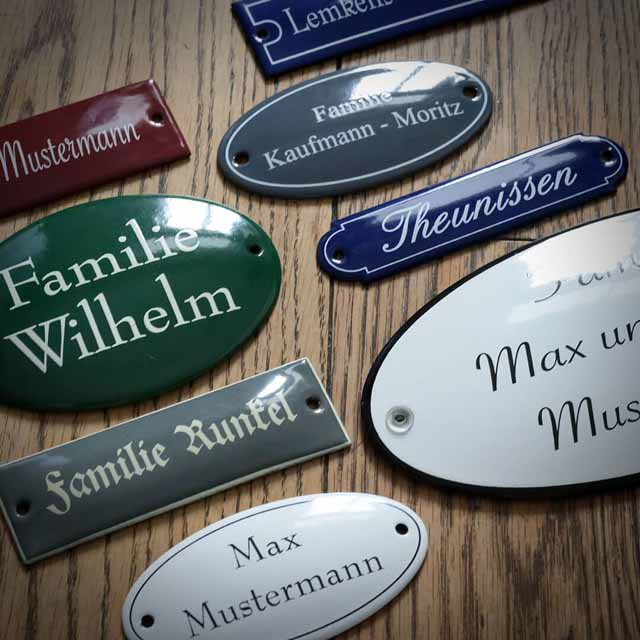 Emaille Namensschild